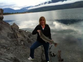 Dolly Varden caught on shoreline of Serenity Views