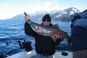 Fishing on Arrow Lake, Dec. 2010
