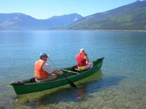 Canoeing on Arrow Lake