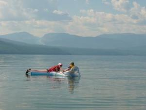 Swimming in Arrow Lake at Serenity Views
