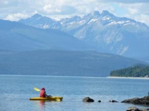 Kayaking on Arrow Lake