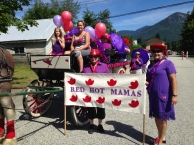 """Red Hot Mamas"" entry in the Nakusp July 1st Parade"