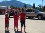 Watching the Canada Day parade in Nakusp