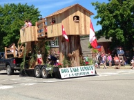 Box Lake Lumber float in Nakusp parade
