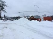 Snowbanks in Village of Nakusp