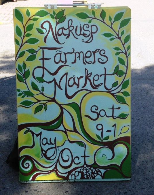 Nakusp Farmer's Market Sign